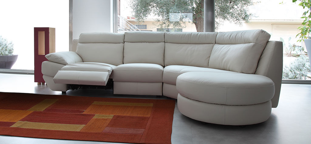 Beautiful Corner sofa / contemporary / leather / 4-seater - PANDORA leather corner recliner sofa