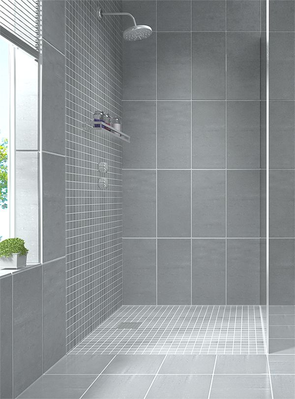 Beautiful Create a modern looking bathroom by mixing different shapes of floor tiles, wall tiles for bathrooms