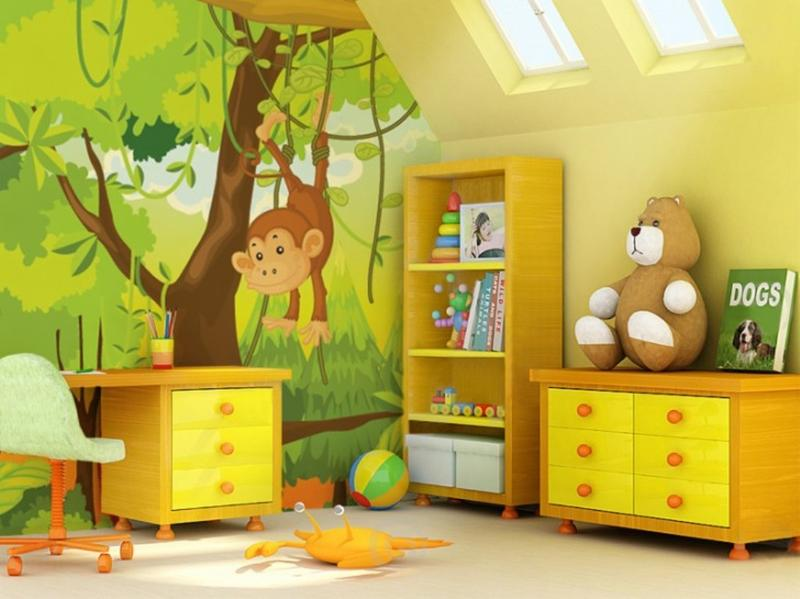 Beautiful Cute Jungle Themed Bedroom for Kids childrens themed bedrooms