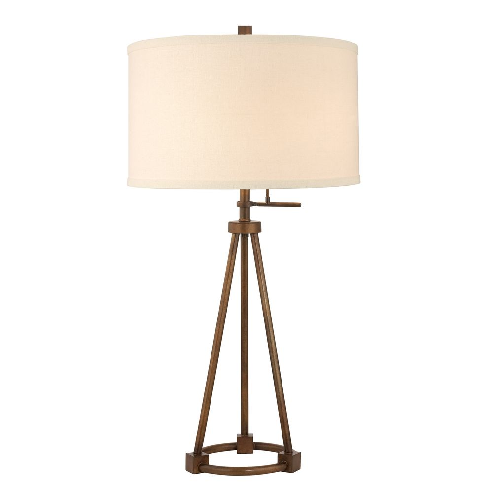 Beautiful Design Classics Lighting Tripod Table Lamp in Bronze Finish with Cream Drum tripod table lamp
