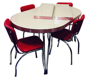 Beautiful Family Dining, Leaf Table retro kitchen table