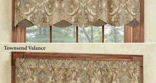 Beautiful Hollyhock Gold Layered Window Valance window valance ideas