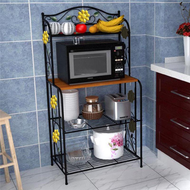 Beautiful Home Kitchen Bakeru0026#039;s Rack Utility Microwave Stand Storage Cart  Workstation Shelf microwave storage shelf