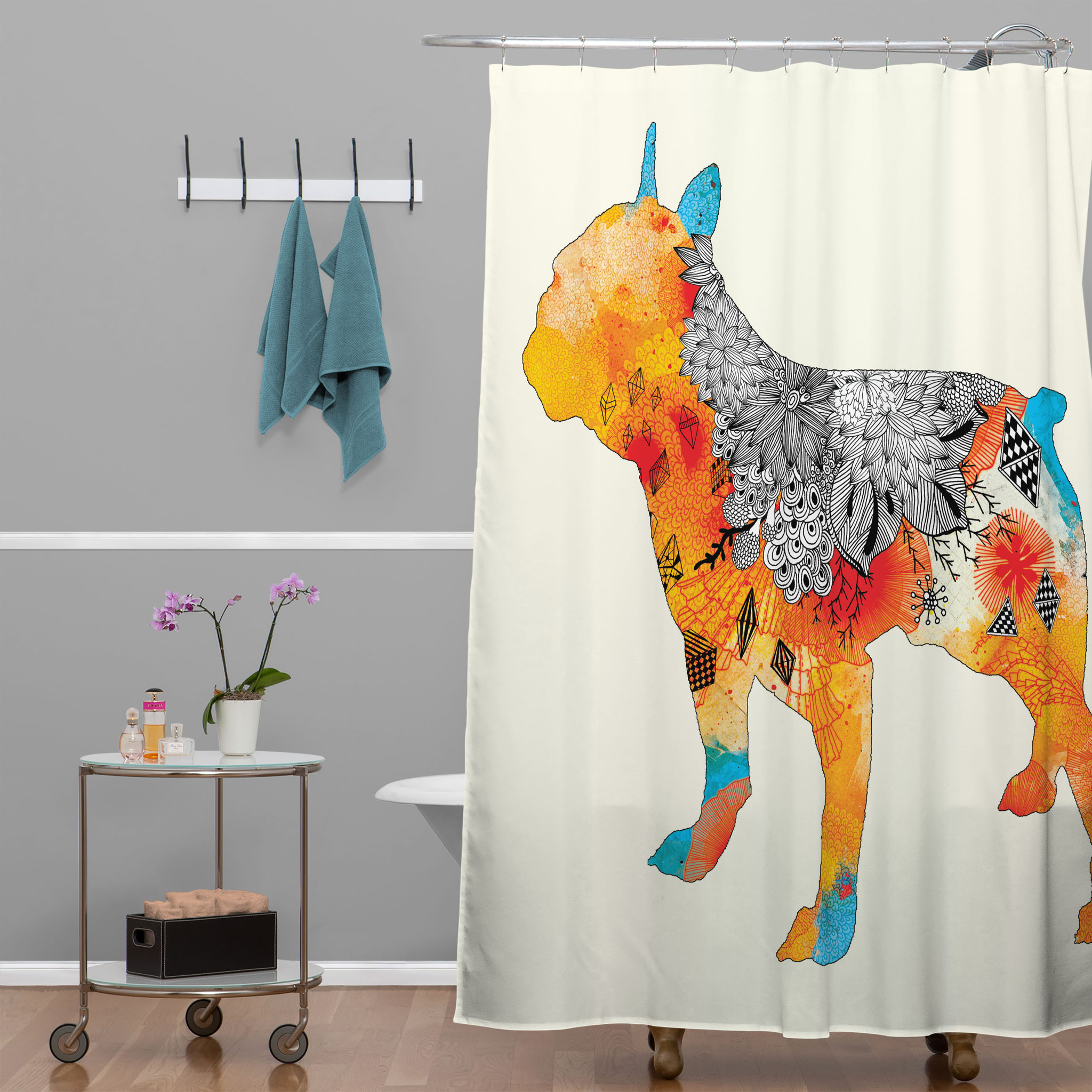 Beautiful Image of: Cool Funky Shower Curtains shower curtains funky unique cool