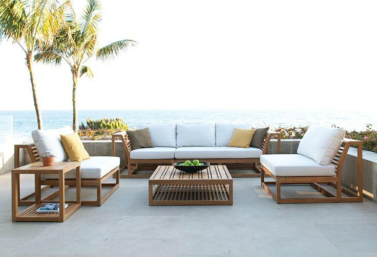 Beautiful Image of: Modern Teak Patio Furniture Maya And Westminster On Pinterest modern teak outdoor furniture