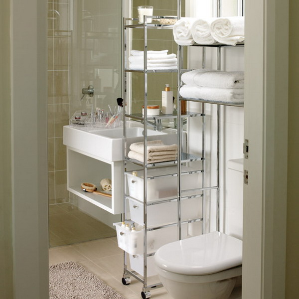 Beautiful movable storage solutions are perfect for small bathrooms bathroom organizers for small bathrooms