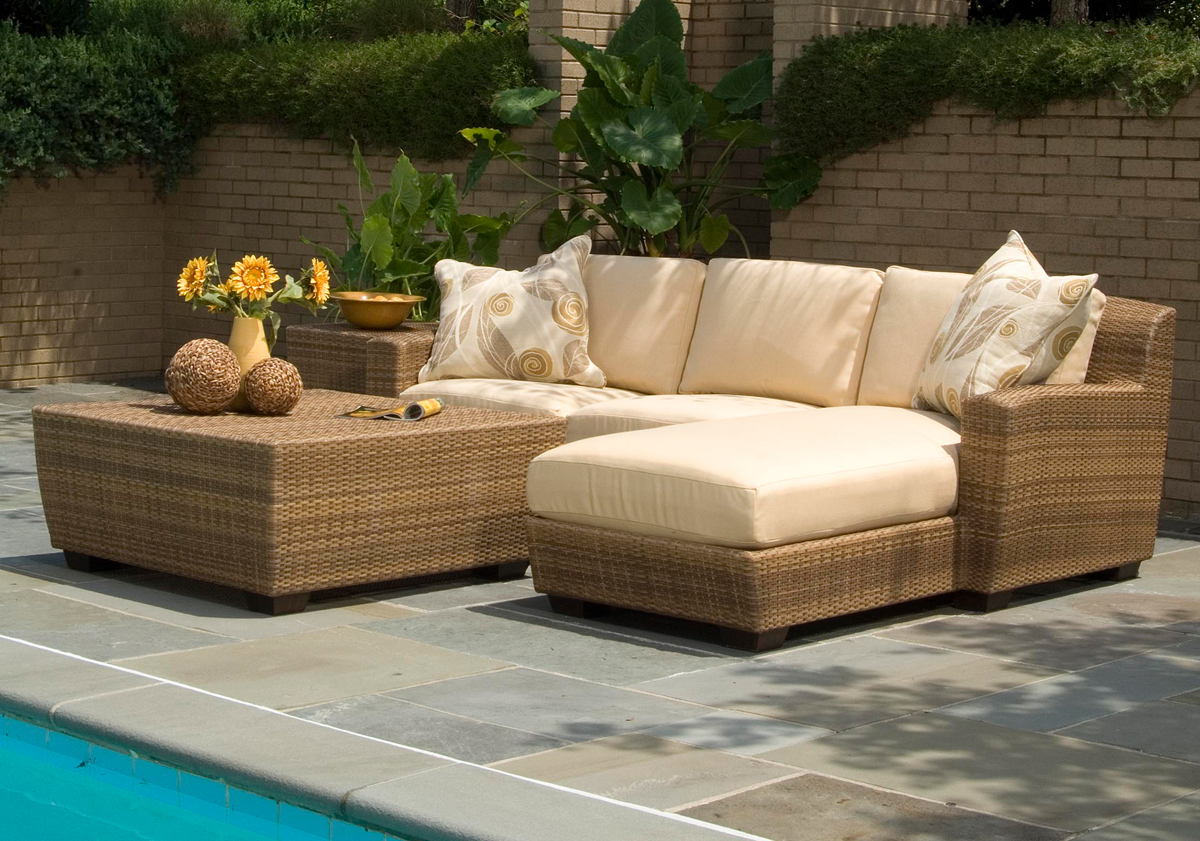 Beautiful Outdoor wicker furniture in a variety of styles from Patio Productions outdoor rattan furniture