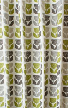 Beautiful Poppypod Eucalyptus Made to Measure Curtains retro style curtains