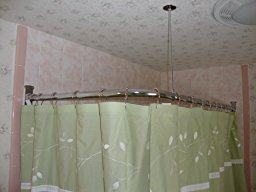 Beautiful review image corner shower curtain rod