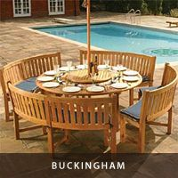 Beautiful Round Teak Picnic Set round wooden garden table and chairs