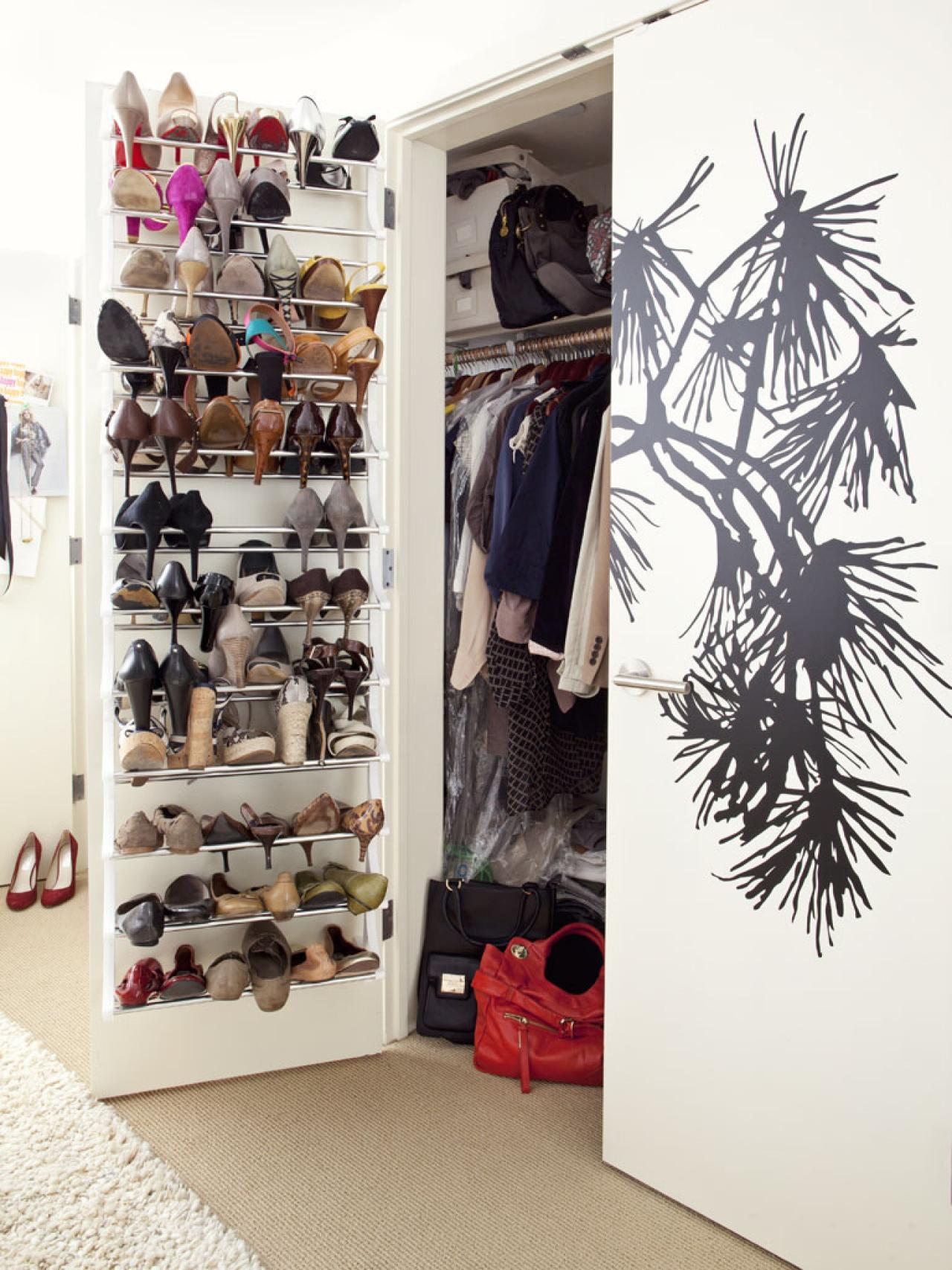 Beautiful Shoe Shelves For Closets Home shoe racks for small spaces