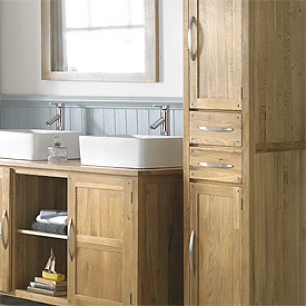 Beautiful ... Solid Oak Tall Unit ... oak bathroom furniture freestanding