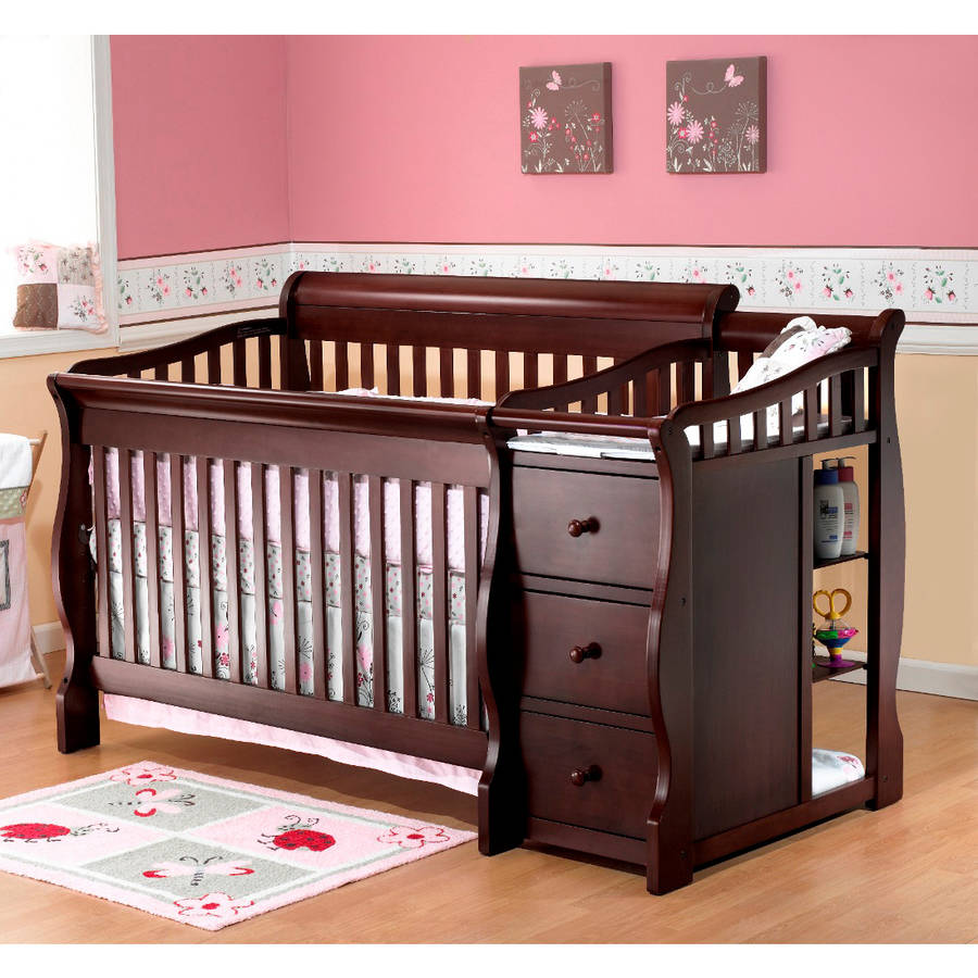 Beautiful Sorelle Tuscany 4-in-1 Convertible Fixed-Side Crib and Changing Table,  Espresso - Walmart.com baby cribs with changing table
