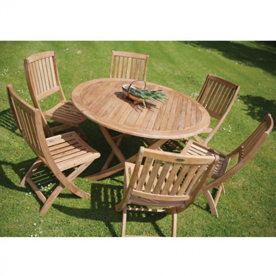 Beautiful Teak Garden Folding Table - Sabina Round Table round wooden garden table and chairs