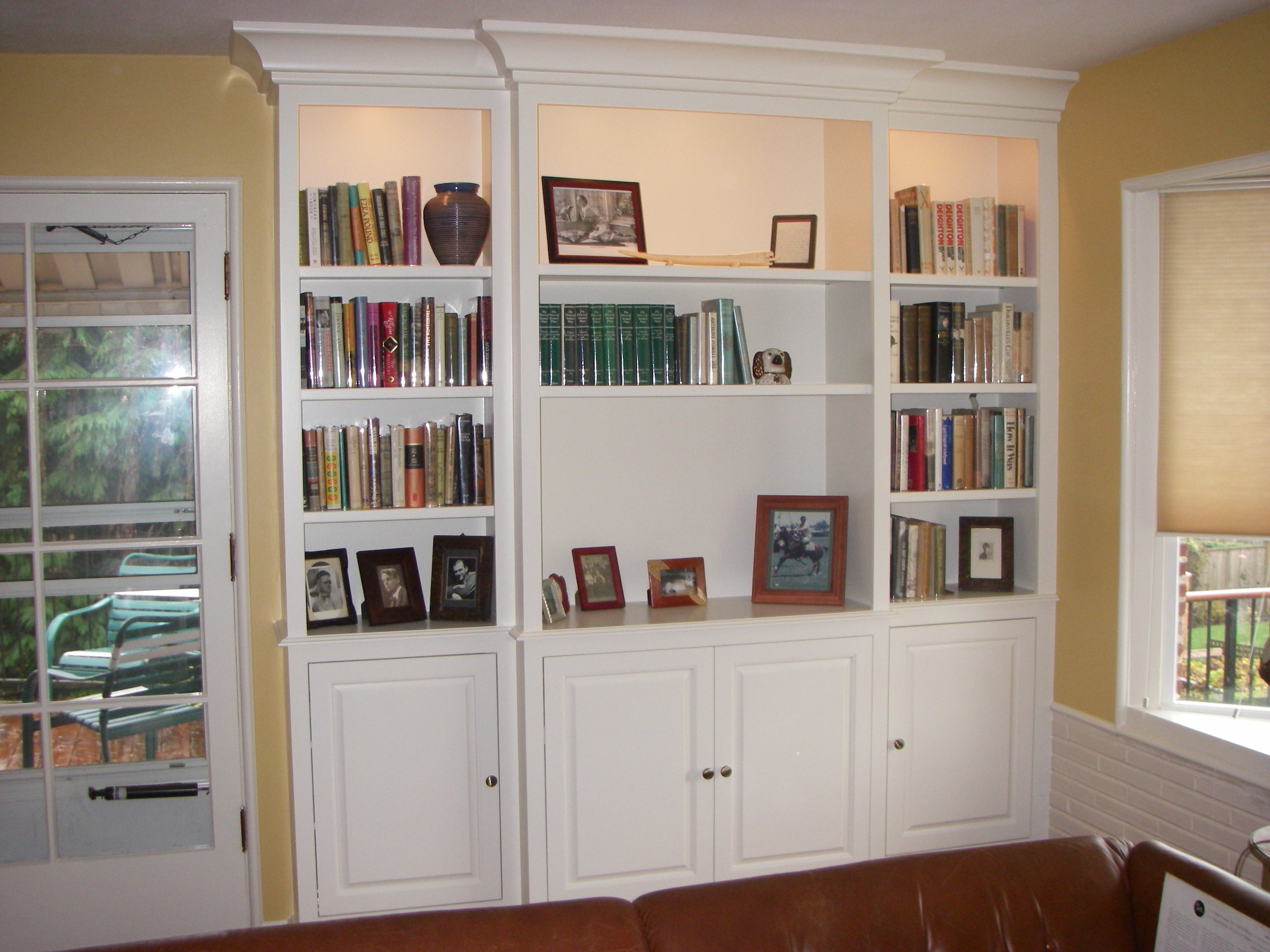 Beautiful Wall Unit Bookshelves Wall ... white bookshelves for wall