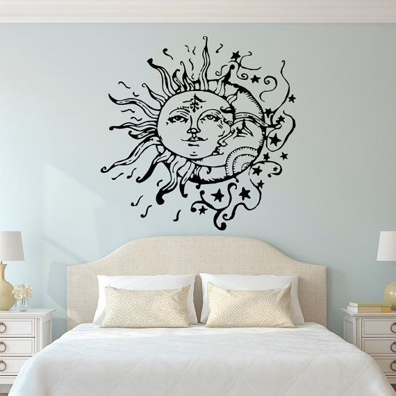 Best Sun And Moon Wall Decals For Bedroom- Sun Moon And Stars Wall bedroom wall decor stickers
