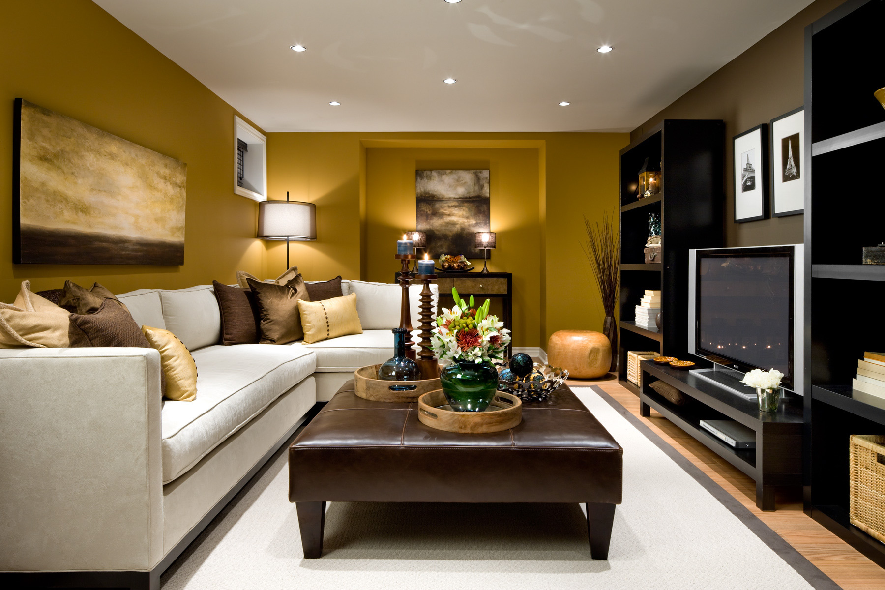 Best 2. Earthly Pleasures modern small living room design