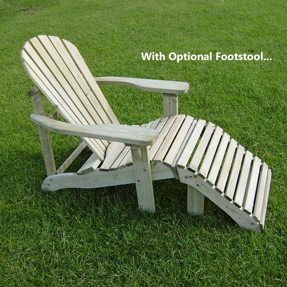 Best Adirondack Style Wooden Garden Lounger wooden garden lounger