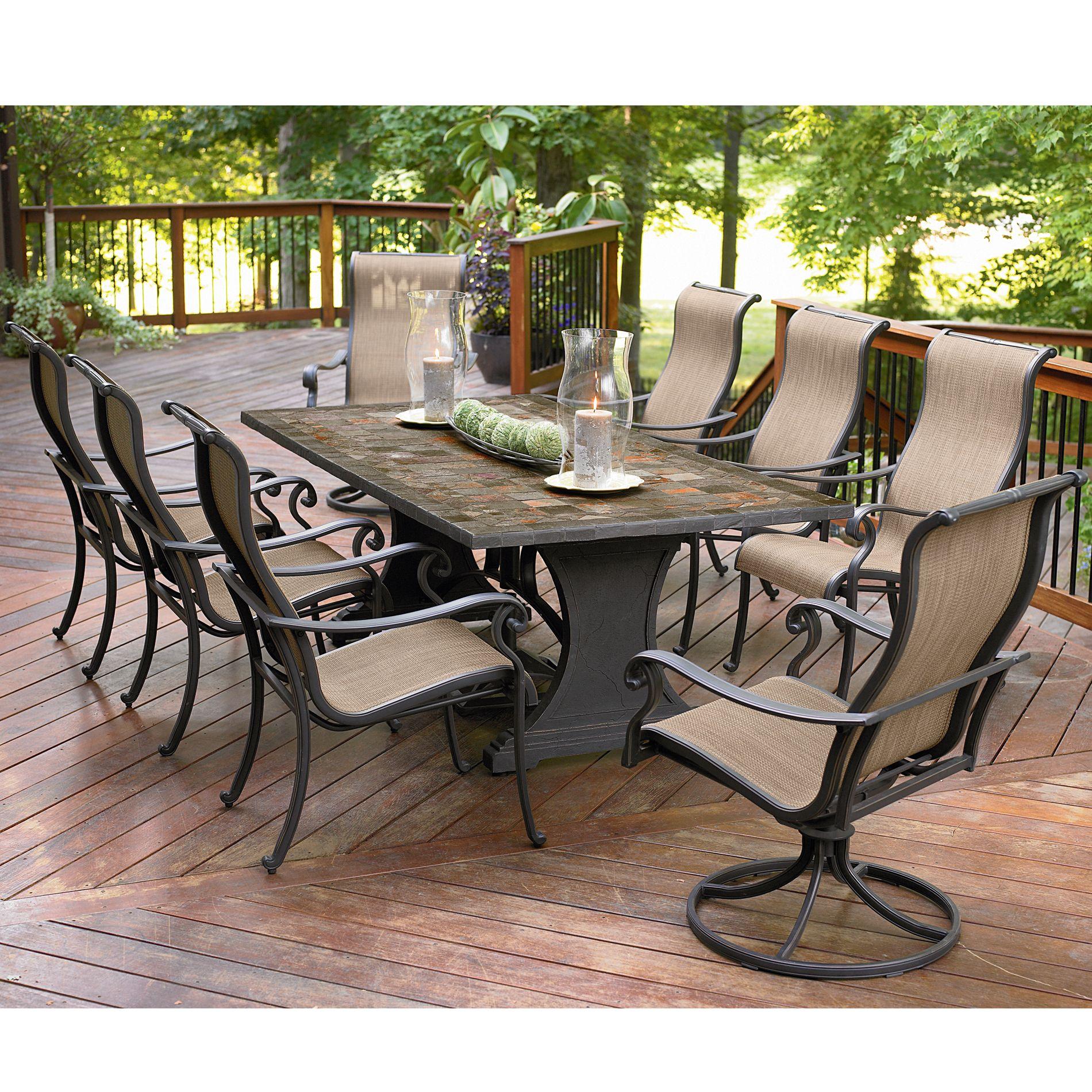 Best Agio International Panorama 9 Pc. Patio Dining Set - Sears agio outdoor patio furniture