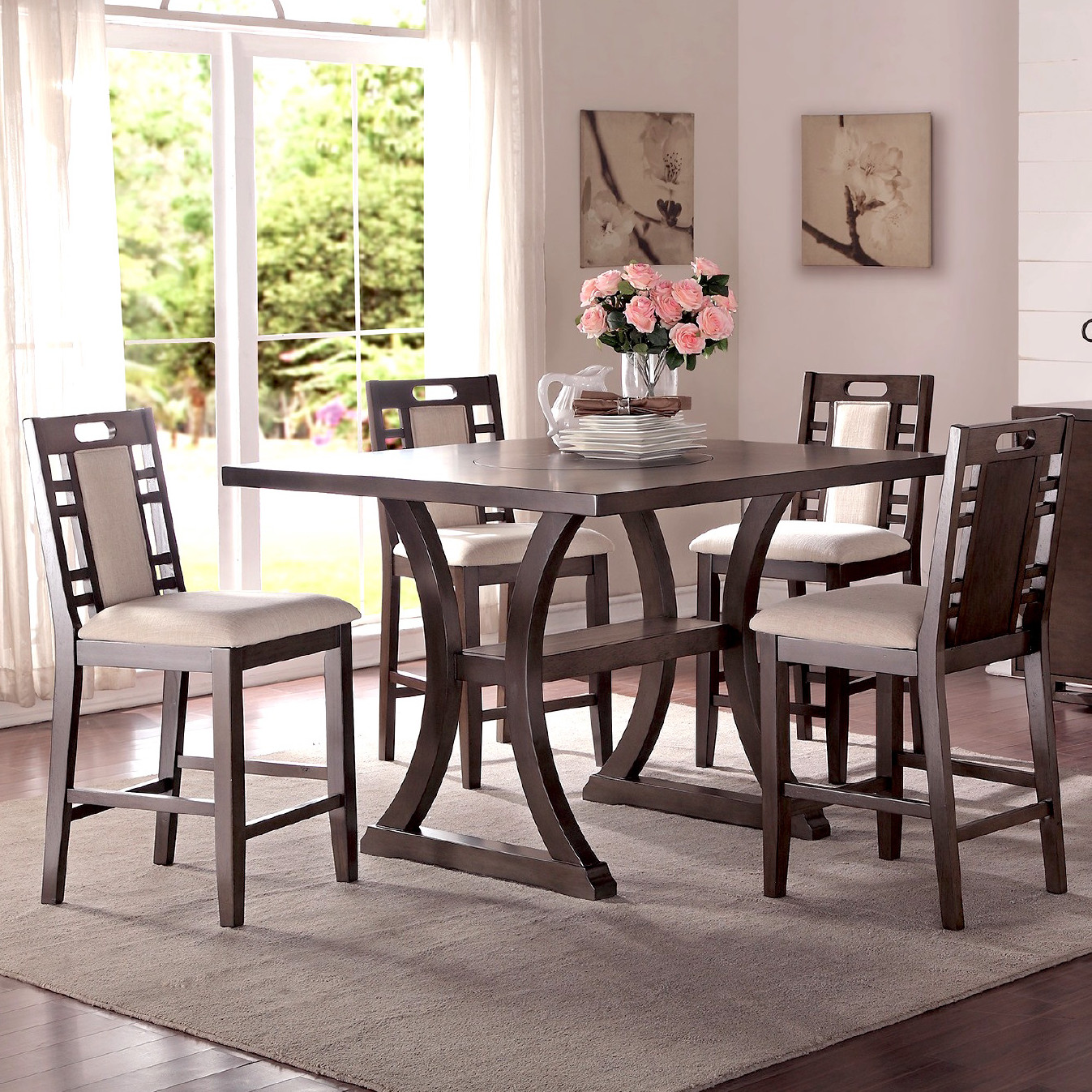 Best Alison 5 Piece Counter Height Dining Set counter height dining set