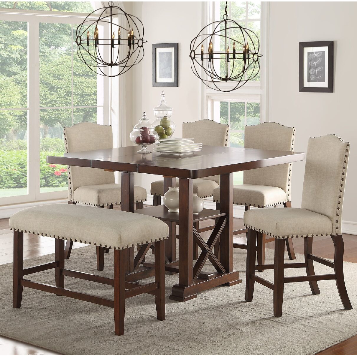 Best Amelie II 6 Piece Counter Height Dining Set counter height dining set