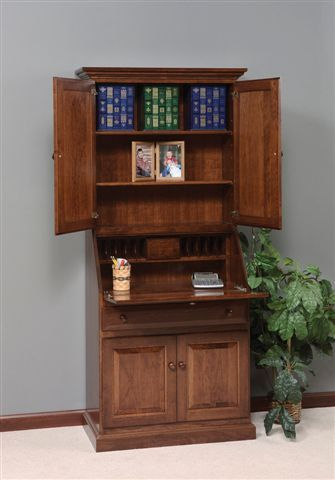 Best Amish Deluxe Secretary Desk with Hutch Top secretary desk with hutch