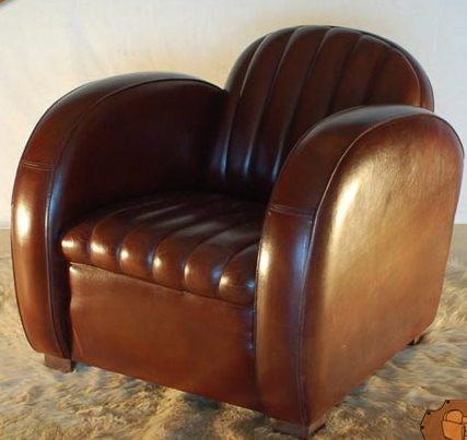 Best art deco armchair brown leather art deco furniture style