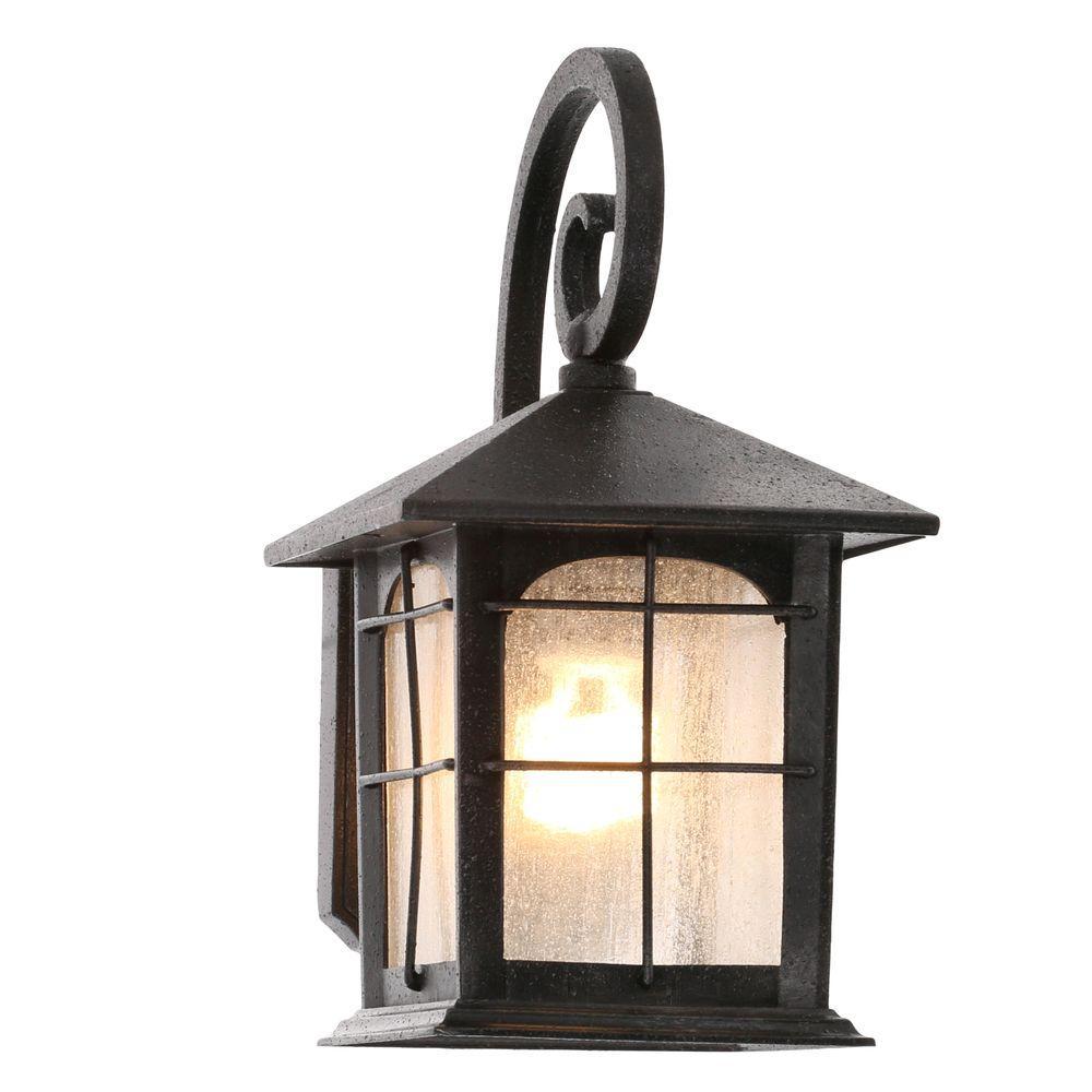 Best Brimfield 1-Light Aged Iron Outdoor Wall Lantern outdoor wall mounted lighting