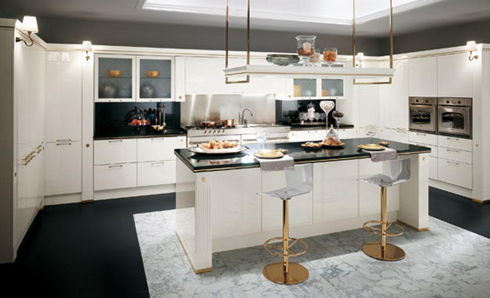 Best Classic Modern Kitchen Modern Kitchen White Gloss Lacquered Interior Design modern classic kitchen design ideas