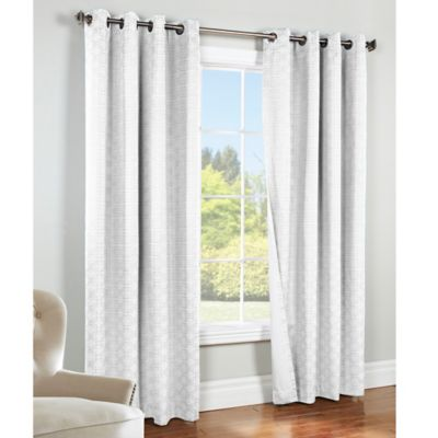 Best Commonwealth Home Fashions Irongate 84-Inch Insulated Blackout Grommet  Window Curtain Panel white blackout curtains