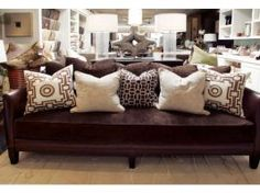 Best Decorative Pillows Can Give A Room New Verve Leather Sofa