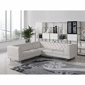 Best Divani Casa Windsor - Modern Leatherette Sectional Sofa modern sectional sofas
