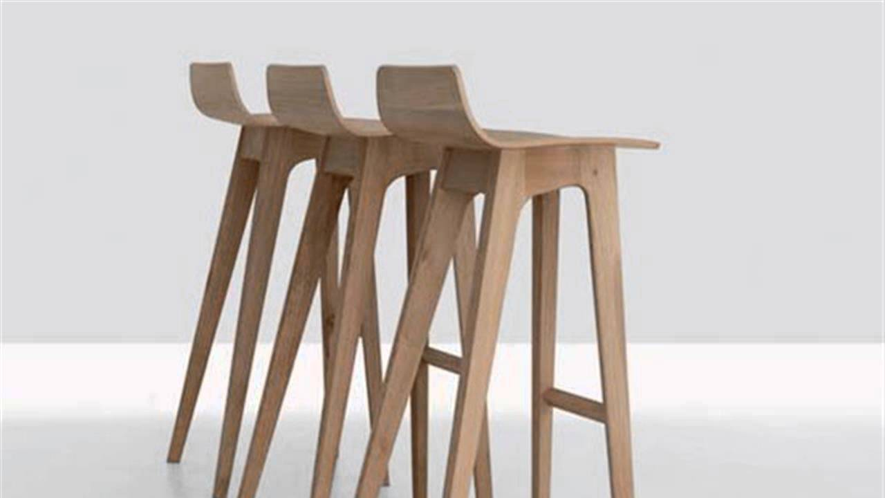 Best DIY Wood Modern Bar Stools - YouTube wooden bar stool chairs