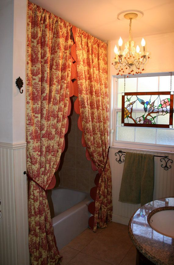 Best Drapery Panels Ruffled Edge Custom Made Starting. Country Shower CurtainsDrapery  ... french country shower curtains