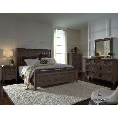 Best ... Driftwood Classic Shaker 6 Piece King Bedroom Set - Talbot king size bedroom sets