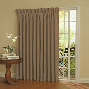 Best Eclipse Thermal Blackout Patio Door Curtain Panel, 100 ... patio door blackout curtains