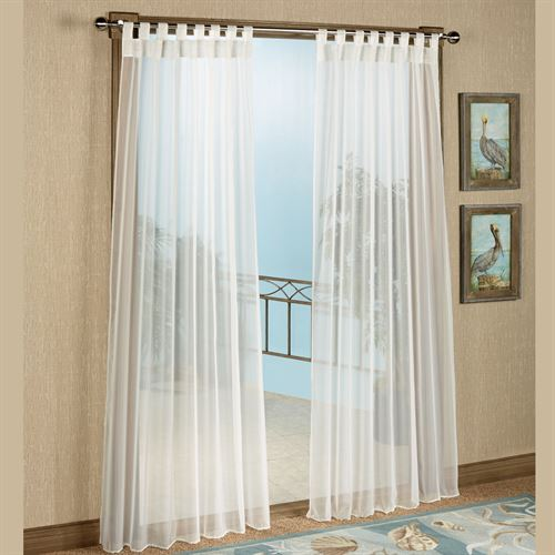 Best Escape Tab Top Sheer Curtain Panel tab top sheer curtains