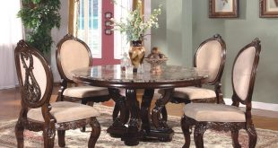 Best French Country Dining Room Set with Round Table u0026 Metal Accents - Formal formal round dining room sets