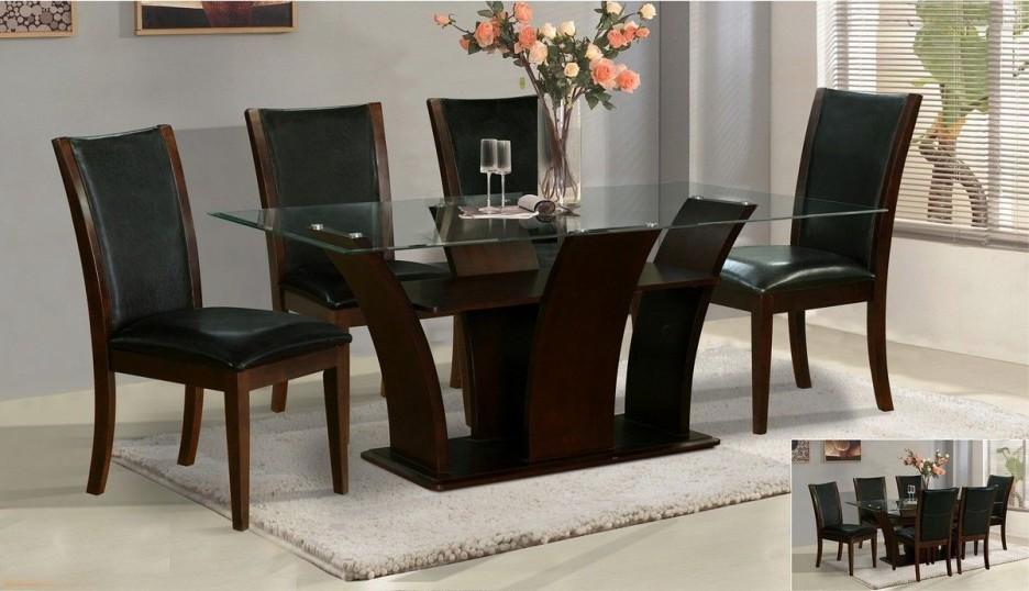 Best glass top dining room tables rectangular home design ideas regarding  awesome house latest dining table designs with glass top