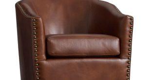 Best Harlow Leather Swivel Armchair | Pottery Barn swivel leather armchair