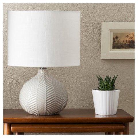 Best Herringbone Ceramic Table Lamp - Gray - Threshold™ : Target nightstand lamps for bedroom