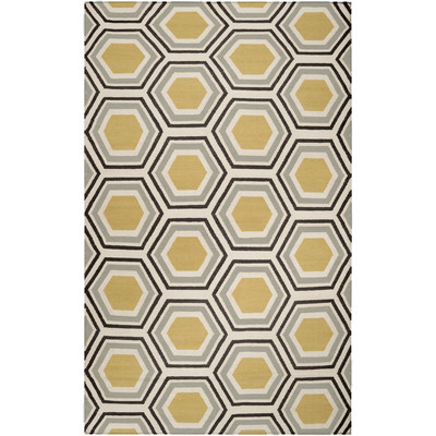 Best Jill Rosenwald Rugs Fallon Yellow/Gray Area Rug u0026 Reviews | Wayfair yellow grey area rug