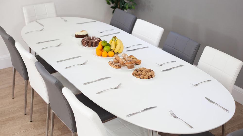 Best Matt White Extending Dining Table and Modern Dining Chairs oval extending dining table