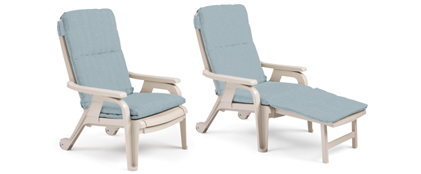 Best Model 9841503 | Bahia Stacking Deck Chair with Pull-Out Footrest and Cushion reclining patio chair