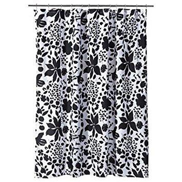 Best Room Essentials Black White Floral Shower Curtain black and white floral shower curtain