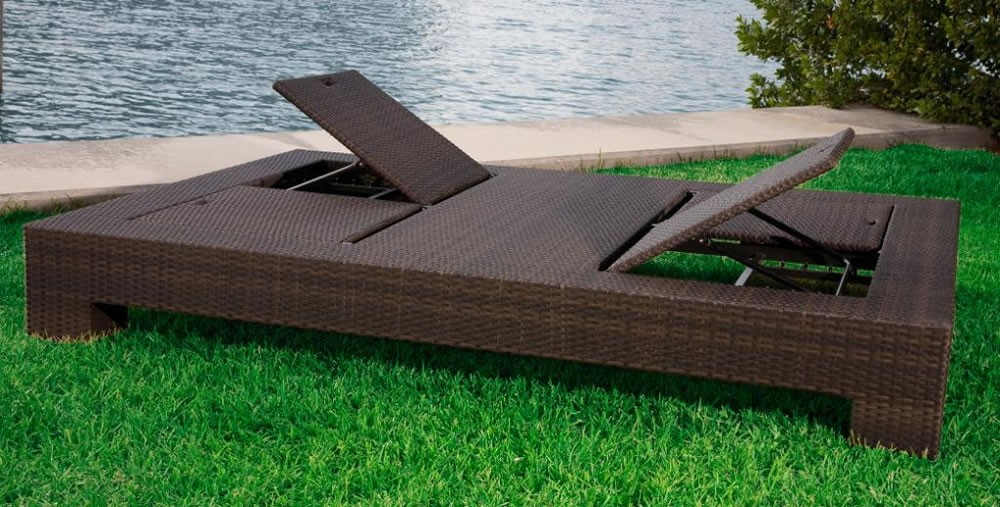Best Source Outdoor King Wicker Double Chaise Lounge double chaise lounge outdoor