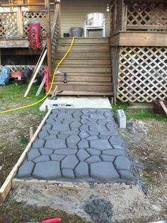 Best stone patio diy from the same mold I have! I think thereu0027s diy patio stones