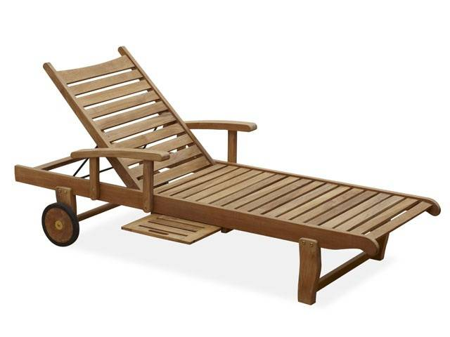 Best Teak Chaise Lounge with Wheels outdoor chaise lounge with wheels