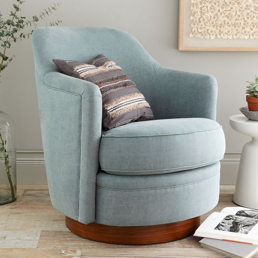 Best The Tub Swivel Armchair features a smooth rounded profile and a wood small swivel armchair