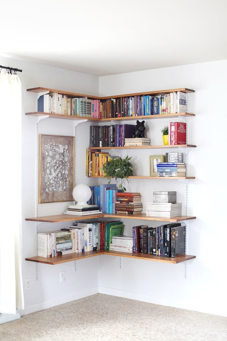 Best Wall-Mounted Shelving Systems You Can DIY wall mounted bookcase